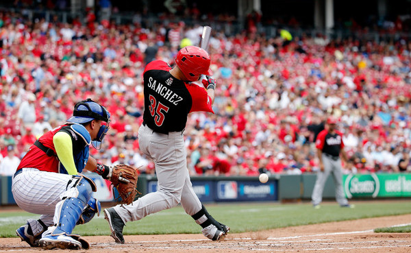 Sanchez in the 2015 Futures Game. (Getty)