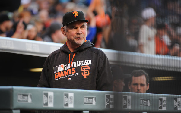 Bochy has an excellent manager's gait. (Bart Young/Getty)