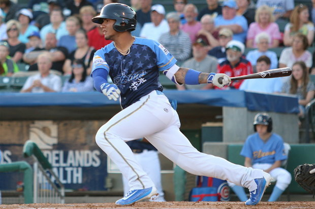 Gleyber. (Larry Kave/Myrtle Beach Pelicans)