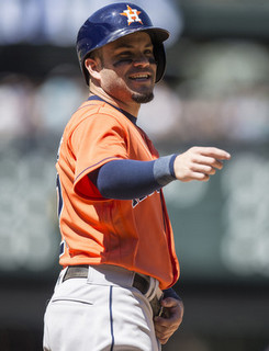 Altuve. (Stephen Brashear/Getty)