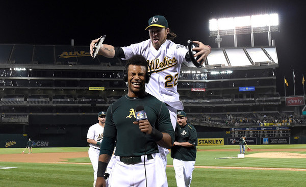 Reddick. (And Khris Davis.) (Thearon W. Henderson/Getty)