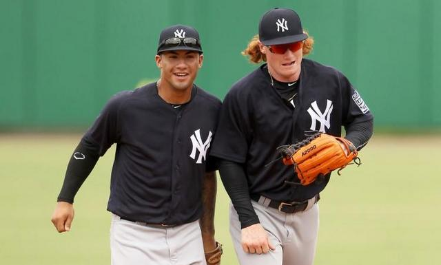 Gleyber and Clint. (New York Daily News)