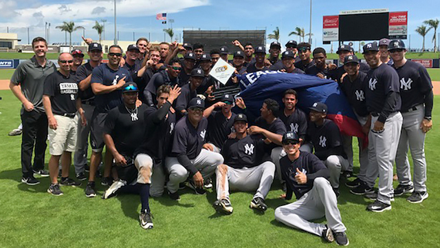 The GCL Yanks East won their league title this year. (MiLB.com)