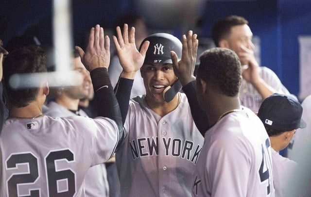 Judge in CF, Stanton RF as Yanks face Jays