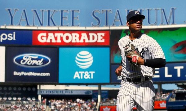 Andujar homers, doubles as Yankees thrash Twins