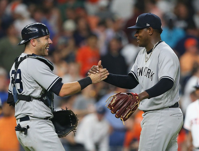 Yankees in position to sweep Indians