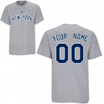 Yankees Custom Player T-Shirt, Away Gray