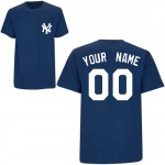 Yankees Custom Player T-Shirt, Home Navy