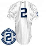 Derek Jeter Authentic Jersey, Home Pinstripes, Retirement Patch
