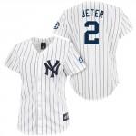 Derek Jeter Women's Replica Jersey, Home Pinstripes, Retirement Patch