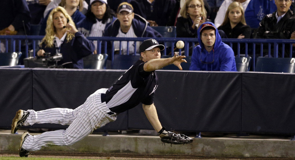 Dan Johnson will be spending a lot more time at first base the next few weeks. (AP Photo/Matt Slocum)