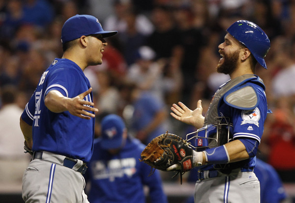 Osuna and Martin. (David Maxwell/Getty Images)