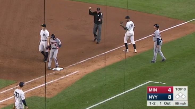 Greg Bird looks as confused as all of us (Screenshot)